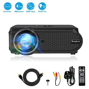 Deeplee DP90 Projector (800x480p-native) 1600Lumens LED £54.99 @ Sold by DeepleeUK and Fulfilled by Amazon