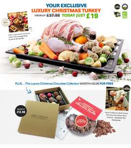 FREE box of chocolates & chocolate bauble worth £12.98 with purchase of luxury Christmas turkey at musclefood