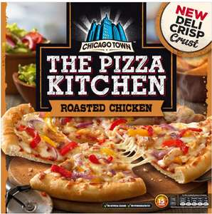 Chicago Town The Pizza Kitchen Deli Pepperoni (355g) / Cheese Medley (350g) / Roasted Chicken (385g) / Garden Vegetable (360g) ONLY £1.50 Asda