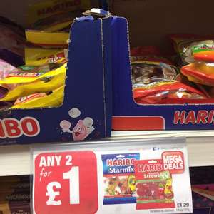 Haribo big bags, 2 for £1 at Premier Stores