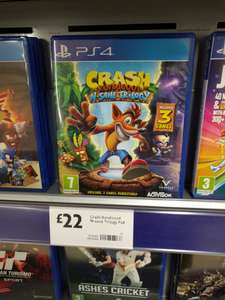 Crash bandicoot N-sane trilogy £22 in store at morrisons