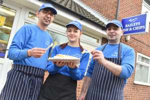 Free Fish and Chips On Xmas Day! Diss, Norfolk - Bailey's Fish and Chips shop