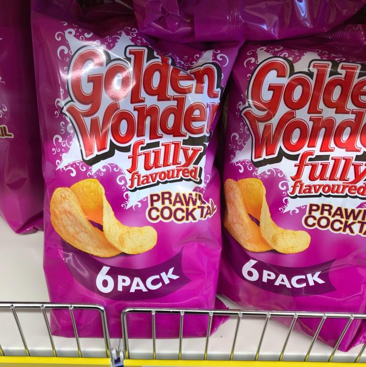 Golden Wonder 6 Pack Prawn Cocktail Flavour 59p at Heron Foods
