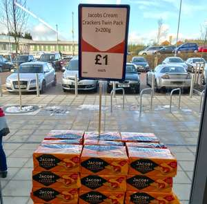 Jacobs Cream Crackers 2x200g pack £1 at Heron Foods
