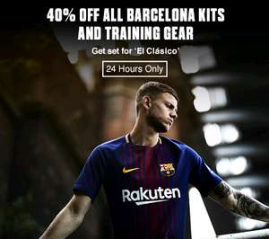 40% off all Barcelona kits at Kitbag