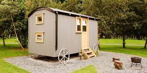 Lancashire - 1 Nights Stay in a Luxury Shepherd's Hut for up to Four People (Adults or Kids) £59 (14.75pp based on 4 sharing) 2 nights £99 via Travelzoo