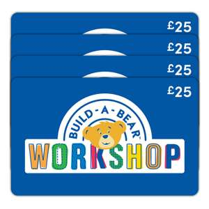 BUILD-A-BEAR 4 x £25 Gift E-Card Ticket - £69.99 at Costco