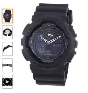 Casio G-Shock Men's Analogue/Digital Quartz Watch with Resin Strap – GA-100 - amazon/delivered