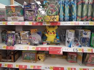 Pokemon Boosters, Tins, Collections Reduced Instore @Tesco