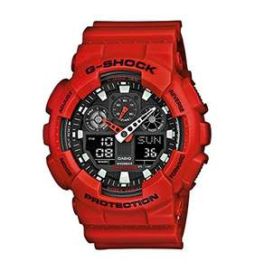 Casio G-Shock Men's Watch with Resin Strap GA-100B Red, £48.45 from amazon
