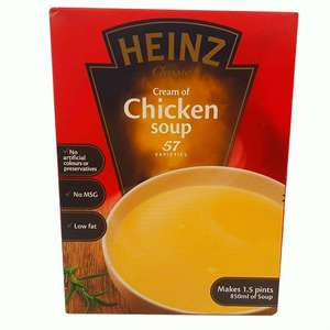 Heinz Simmer Soup Cream of Chicken - 15p instore @ Poundstretcher