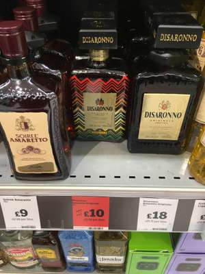 Disarrono 500ml reduced to £10, in Sainsbury's was £15