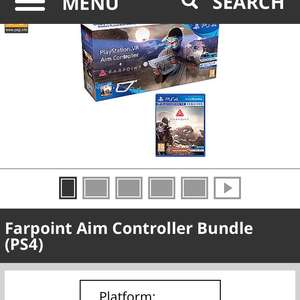 Farpoint and aim controller in stock - £49.99 with Game