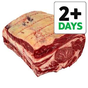 1/2 price Tesco British Beef Bone In Rib Joint @  £10.50 Kilo