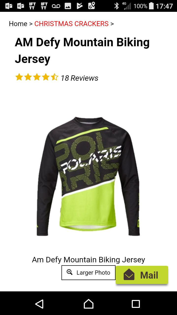 Polaris AM defy MTB jersey - £9.99 / £14.49 delivered @ Polaris Bikewear