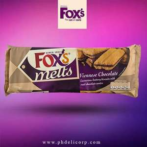 Fox's Melts – Viennese Chocolate biscuits 180g (120g +50%extra free!)