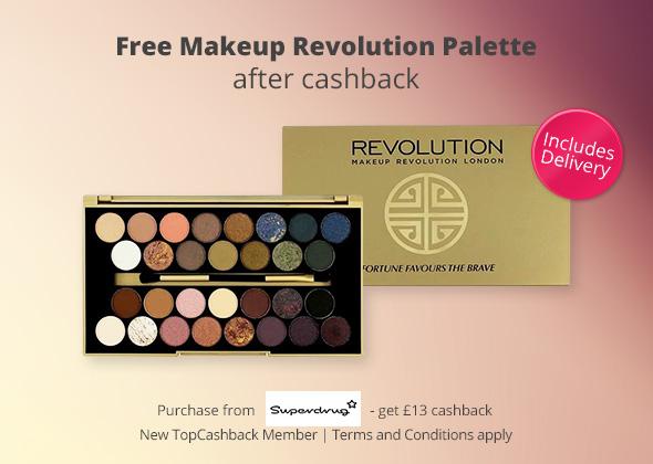 Free Makeup Revolution Palette With Free Delivery @ Superdrug