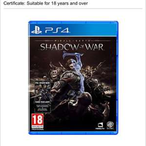 Shadow of war PS4 £29.99 @ Base