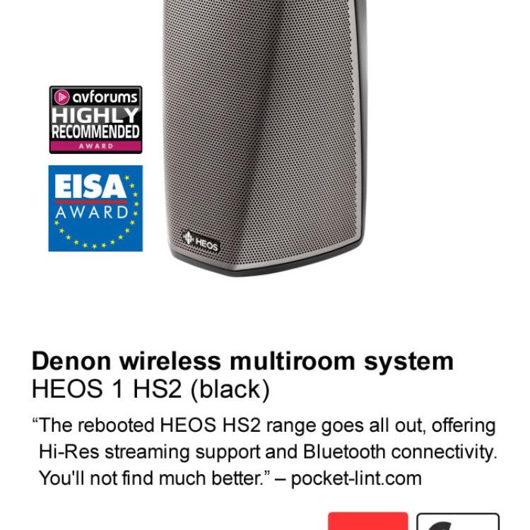 Denon multiroom speaker £149 @ Richersounds