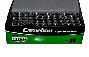 60 x Camelion Super Heavy Duty LR03 MN2400 AAA 1.5 V Batteries £6.99 Prime Sold by PoundMax and Fulfilled by Amazon
