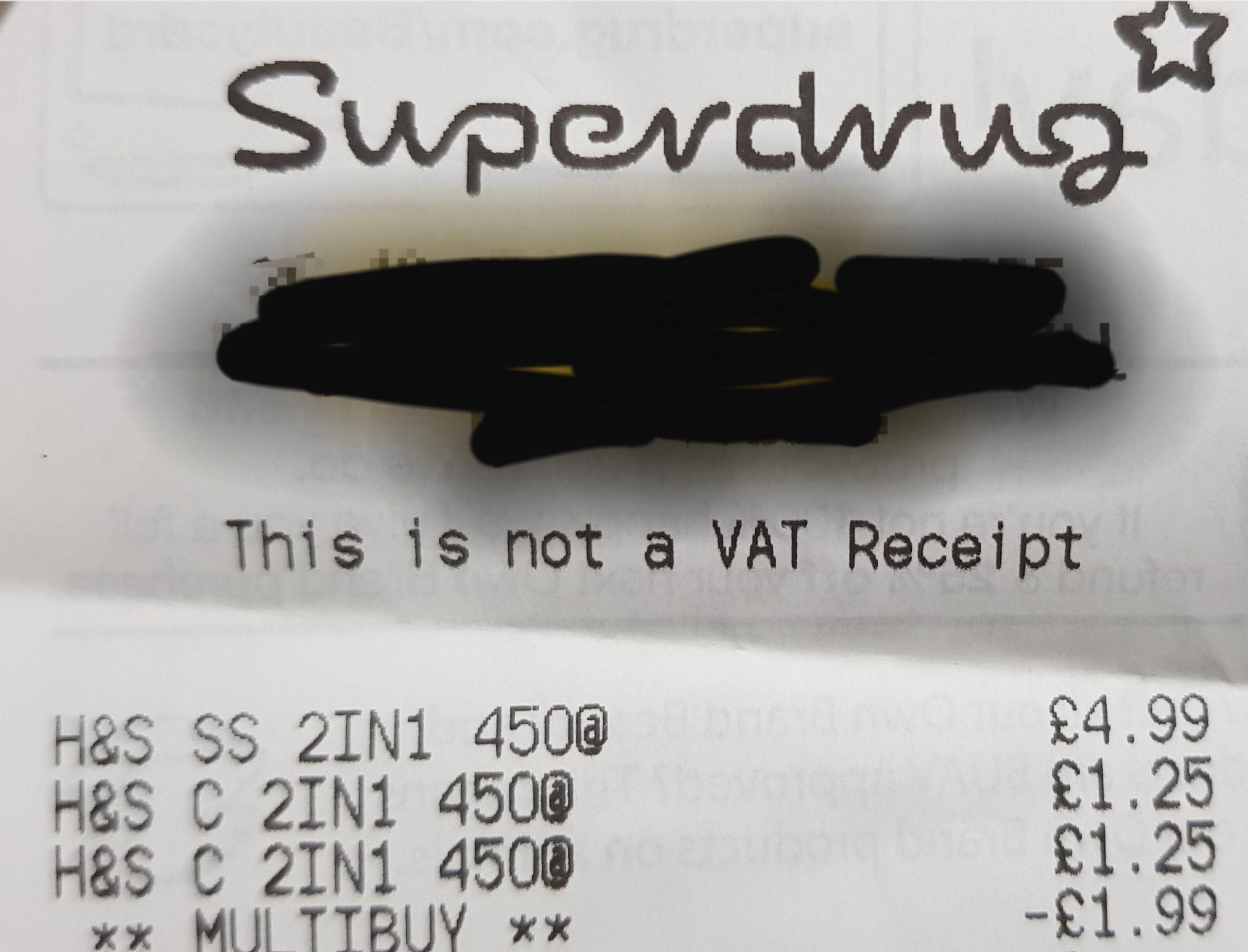 Head and Shoulders Shampoo £1.25 @ Superdrug