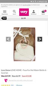 Hot Water Bottle and Sock Set £6.99 @Very
