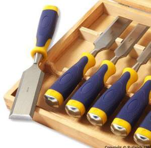 Set of 8 Bevel Edge Chisels at Rutlands £5.95 Delivery
