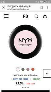 NYX make up from £1.99 Plus extra offer with multi purchase