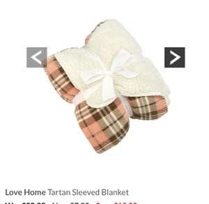 Love Home Tartan Sleeved Blanket less than half price £7.99 @ very