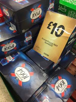 18 x 440ml cans of Kronenbourg 1664 - £10 instore @ Morrisons