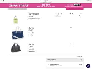 Calvin Klein eternity 50ml with two free bags £35.60 at The Fragrance Shop