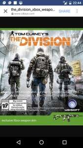 Tom Clancy's The Division weapon skin for Xbox one 19p @ CDKeys