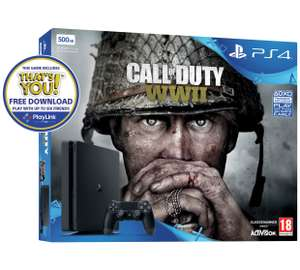 PS4 500GB Console with COD WW2 / Extra Dual Shock controller and a choice of playlink game £229.99 @ Argos