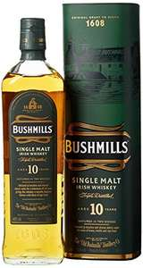 Bushmills 10 Year Old Single Malt Irish Whiskey Whisky, 70 cl - £21.99 - Amazon Deal of the Day