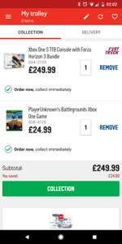 Xbox One S 1TB + Forza Horizon 3 + PlayerUnknown's Battlegrounds £249.99 Argos