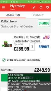 Xbox One S 1TB Minecraft Limited Edition Console Bundle £249.99 @ argos