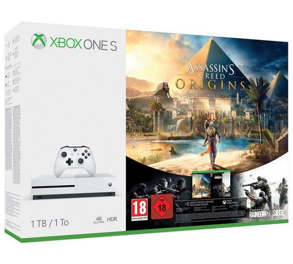 Xbox One S 1TB Assassin's Creed Origins Bonus Bundle £229.99 Argos