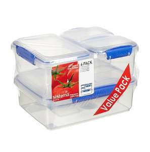 Sistema KLIP IT Container - Pack of 6. Was £11.99 Now £6.69 (Prime) / £11.44 (non Prime) at Amazon