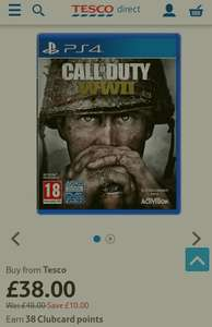 COD WW2 £38 at Tesco Direct PS4/XBOX