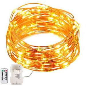 Battery Powered 8 Modes Waterproof 50 LEDs Copper Wire String Light With Remote Control - £3.28 at Banggood
