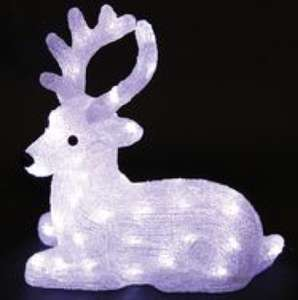 UNBRANDED  PEL00766  Acrylic Sitting Reindeer Christmas Light - Cool White £12.60 - CPC Farnell