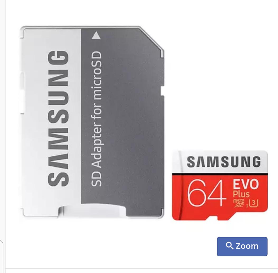 Samsung 64GB Evo Plus Micro SD Card + Adapter - 100MB/s £17.99 mymemory