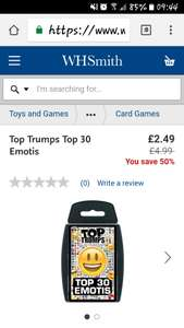 Top Trumps Emojis, perfect for a stocking filler - £2.49 @ WHSmith