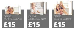 Three canvas sizes, one price (£15) @ Picanova