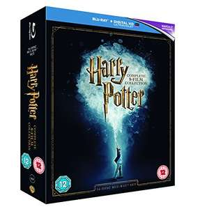 Harry Potter 8 film complete collection Blu-Ray + UV Copy @ Amazon - £29.59