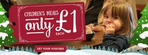 Buy 2 kids meals for £1 each with each adult meal...£8.49 for an adult & 2 Children`s meals @ Toby Carvery