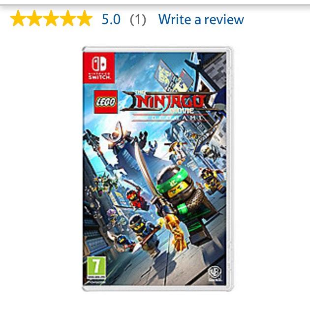 Lego Ninjago Movie Switch Game - £24 @ Tesco