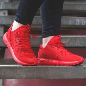 adidas Originals Mens Tubular Runner Strap Trainers  Red 22 48 delivered   MandM Direct