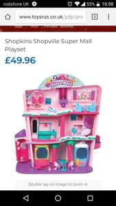 Shopkins super mall toys r us £49.96