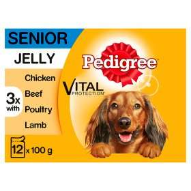 Pedigree Dog Pouches Mixed Selection in Gravy (12 x 100g) ONLY £3.45 + Various other sizes as stocked @ Asda